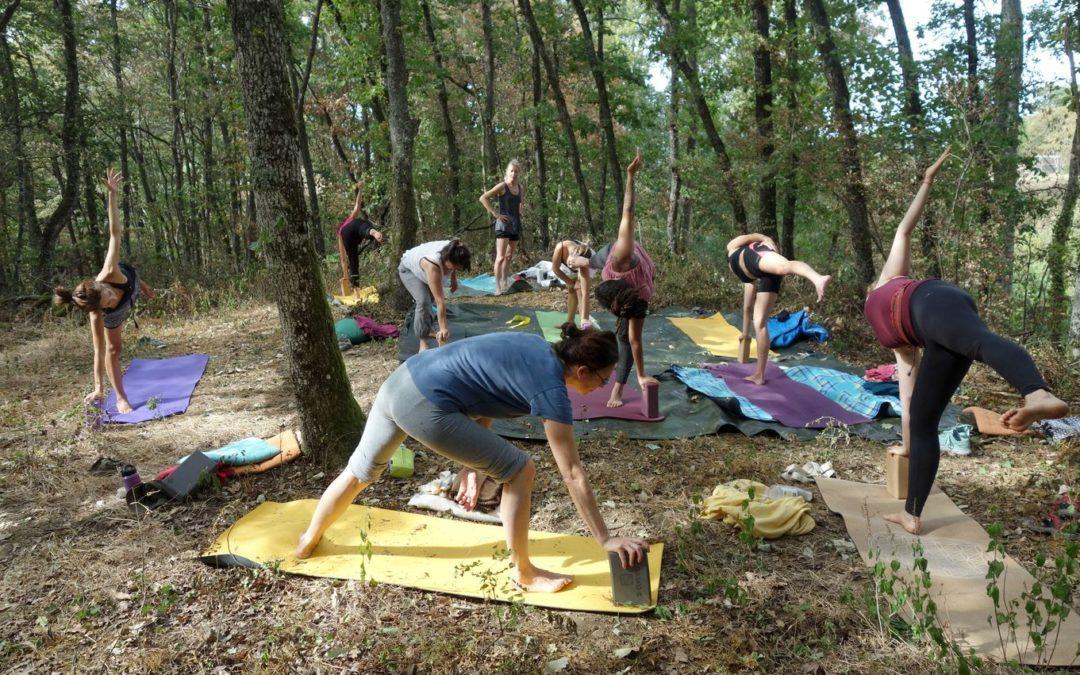 Photos de la retraite de yoga 08/2020